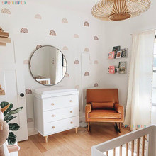 pegatinas de pared Papel tapiz de arcoíris para decoración del hogar, papel tapiz de pared estilo bohemio para sala de estar, decoración de pared