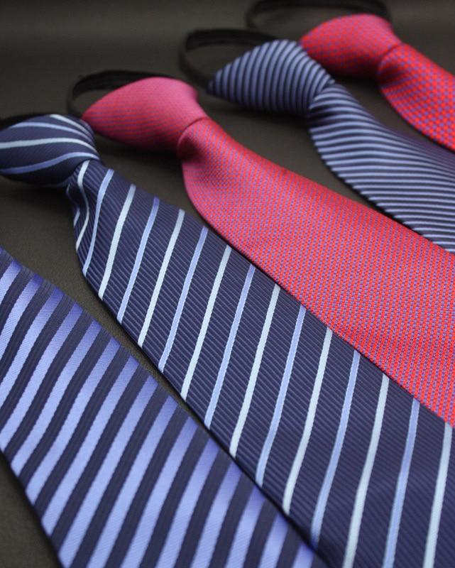 Men Business Suits Easy Pull Zipper Uniform Security Lazy Men Tie Set Men's Clothing Accessories