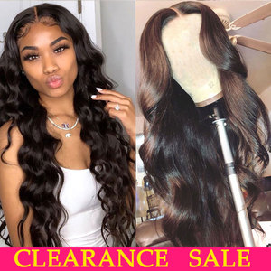 Image 1 - 180 Density Wavy Body Wave Lace Front Wig HD Transparent Lace Frontal Wigs T PART Lace Front Human Hair Wigs Remy Brazilian Wigs