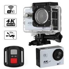 4K Wifi Action Camera 1080P Hd 16Mp Helmet Cam Waterproof Dv Remote Control Sports Video Dvr Silvery action camera 360 camera