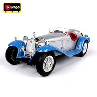 Burago 1:18 Simulation Alloy Master Car Model Toy For Alfa Romeo 8C Classic Car Model Decoration For man gift