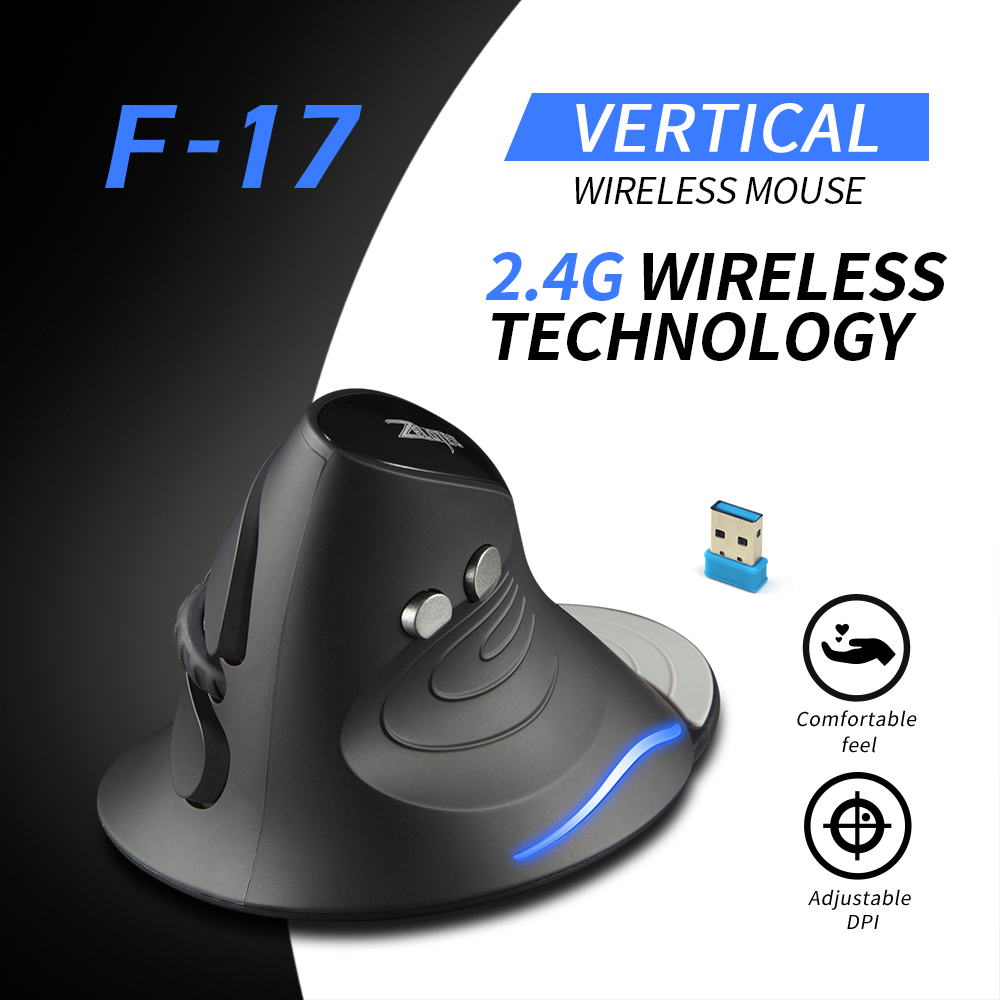 F-17 Vertical Mouse 2.4GHz Wireless Gaming Mouse 6 Keys Ergonomic Mouse Optical Mice with 3 Adjustable DPI Mice for PC Laptop