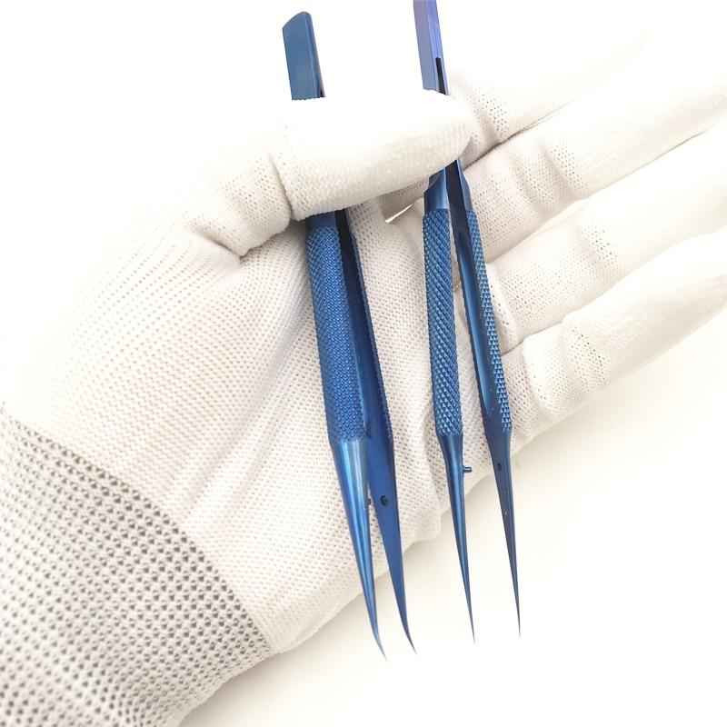Titanium Alloy Tweezers Professional Maintenance Tool 0.15mm Edge Precision Fingerprint Tweezers Apple Main Board Copper Wire