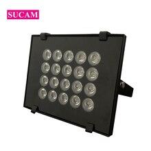 цена на DC 12V 20 Pieces Array Infrared Illuminator Lamp Waterproof Night Vision 850nm IR Leds Lights for CCTV Camera at Night Time