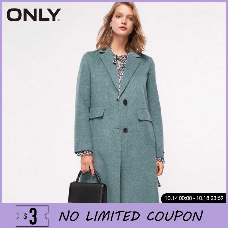 ONLY Women Formal Autumn & Winter Mid-length Double-faced Wool Trench Coat | 11834S505