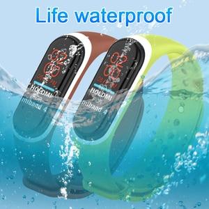 Image 4 - 22 couleurs Bracelet en Silicone Bracelet pour Xiaomi Mi bande 4 montre remplacement Bracelet en TPU Bracelet intelligent sport montre Bracelet