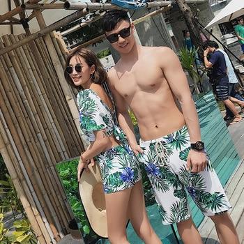 Tankini Swimwear For Women Two Piece Swimsuit New 2020 Deuce Bikini Couples Suits Three Sexy Spot Polyester Floral Bikini 2
