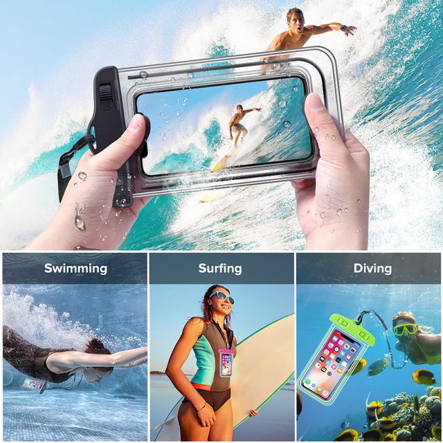 INIU IP68 Universal Waterproof Phone Case Water Proof Bag Mobile Cover For iPhone 12 11 Pro Max 8 7 POCO x3 Xiaomi Redmi Samsung 6