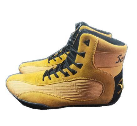 Men Super Quality Boxing Wrestling Fighting Weight-lifting Shoes Male Cow Leather Training Boxing Fitness Squat Shoes