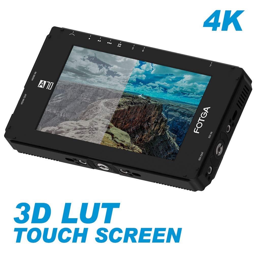 "FOTGA DP500IIIS A70TLS 7"" Touch Screen FHD Video On Camera Field Monitor 1920x1080 HDMI SDI / 4K for DSLR Mirrorless Cinema|Monitor| |  - title="