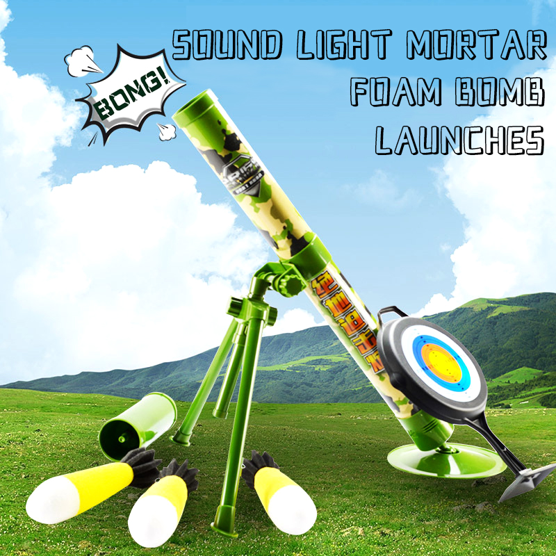 Children's Jedi Mortar Chase Preparation Ammunition Handheld Chicken Cannon Simulation Military Rocket Launcher Model Toy Gun