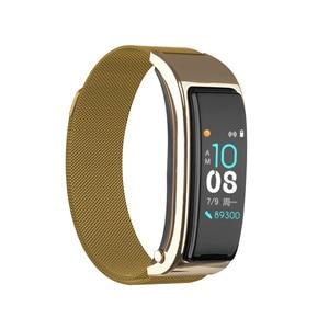 Image 2 - B5s Bluetooth earphone wireless earbud smart headset watch with microphone Smart Bracelet Waterproof touch screen music play