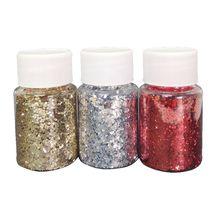 3 Colors Resin Casting Mold Glitters Sequains Pigment Fillings Kit Makeup Jewelry Nail Art Decor Making