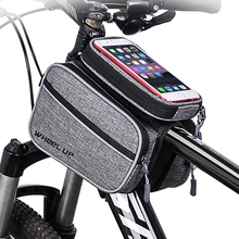 цена на Bike Bags Waterproof Bike Bag Frame Front Head Top Tube Cycling Bag Double IPouch 6.0 Inch Touch Screen Bicycle Bag Accessories