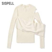 Женский вязаный свитер sispell Повседневный с круглым вырезом