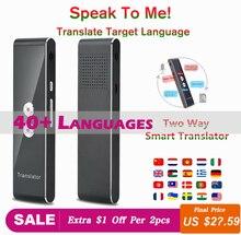 Traductor de voz inteligente portátil en tiempo Real, multilenguaje, traductor interactivo, 3 en 1, traductor de texto por voz BT
