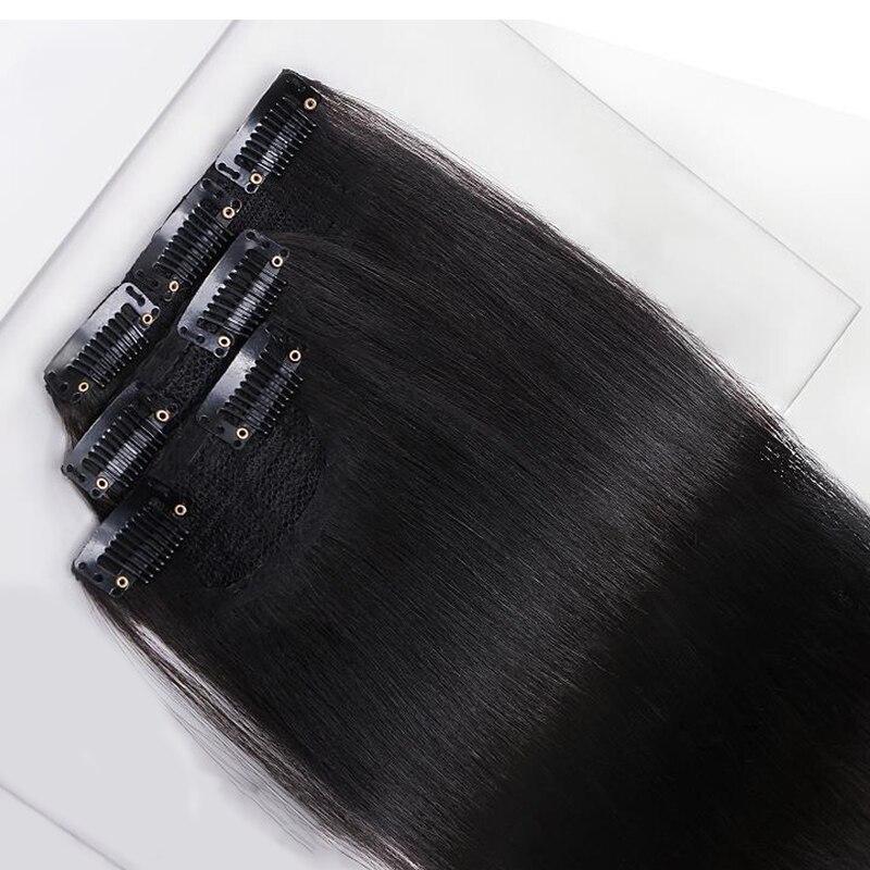 15-70 см длинные прямые синтетические волосы для наращивания на заколках черные коричневые волосы для наращивания