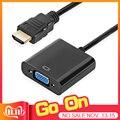Adaptador de HDMI a VGA macho a famoso Convertidor para PS4 1080P adaptador de HDMI-VGA con Video toma de cable audio HDMI VGA para ordenador TV Box