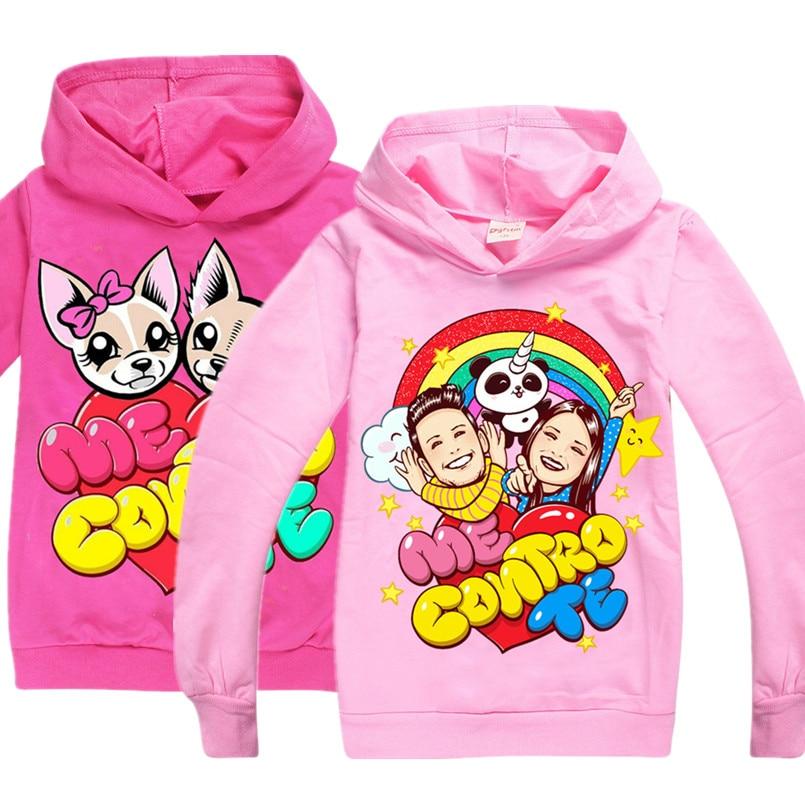 ME CONTRO TE Cartoon Hoodie Baby Girl Sweatshirt Children Clothing Kids Hoodies Clothes Boys Cotton Costume Christmas T Shirt