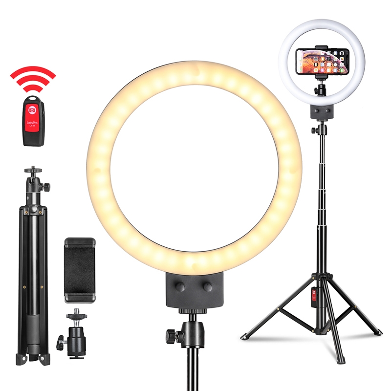 9inch 23cm Stepless Dimmable LED Selfie Ring Light for Youtube Video Makeup Beauty Light Photo Studio Continuous Lighting Live