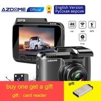 Original AZDOME GS63H 4K Dash Cam Built In GPS WIFI Car Camera With Real Camera Dvr WDR Night Vision Dashcam 24H Parking Monitor