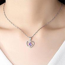 Collier à la mode et nouveau pendentif d'amour en forme de coeur de pêche, chaîne autour du cou, bijoux pour femmes