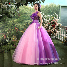 SERMENT Colorful Costume New Opening Dance Big Swing Skirt Modern Stage Dress with Dance Skirt National Wind Female Long Tutu