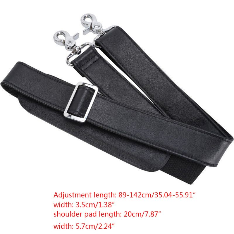 Universal Adjustable Padded Genuine Leather Wide Shoulder Bag Strap Replacement for Laptop Case Luggage Crossbody Messenger Hand