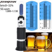 A gravidade 1.000-1.130 da escala dupla do refratômetro do wort da cerveja e o brix 0-32% substituem o medidor de açúcar do hidrômetro do homebrew 30% de desconto