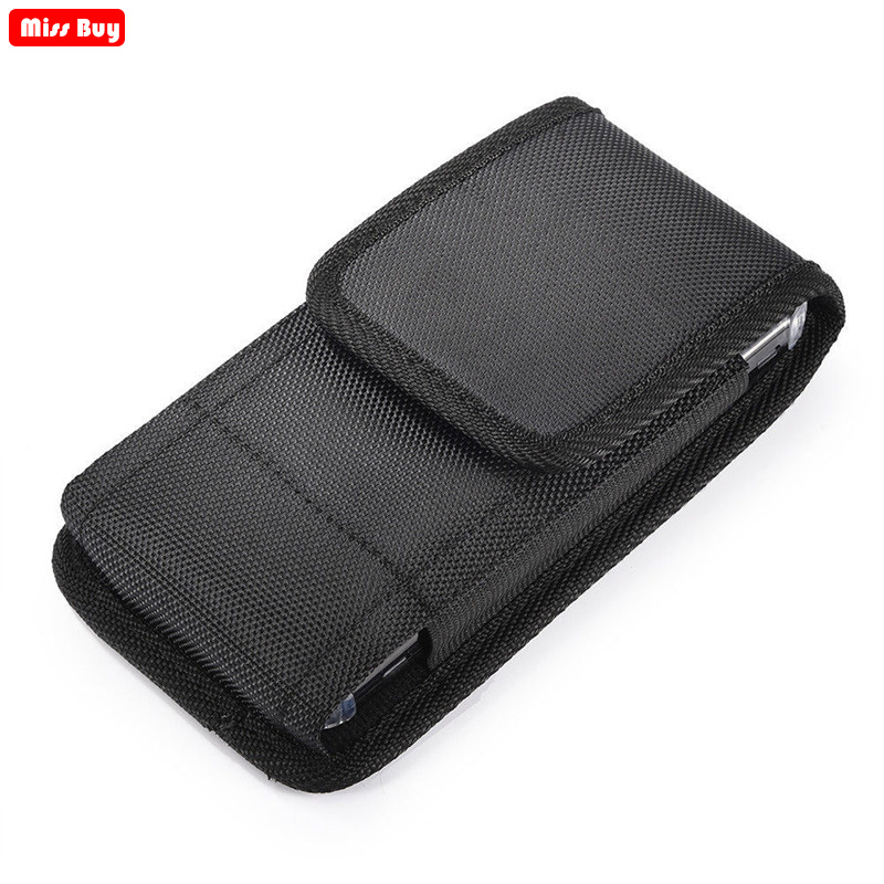 Casual Phone Bag Pouch For iPhone 12 11 Pro Max X 8 7 6 6S Plus 5 5S SE 5C 4 Xr Xs Max Case Belt Clip Holster Oxford cloth Cover