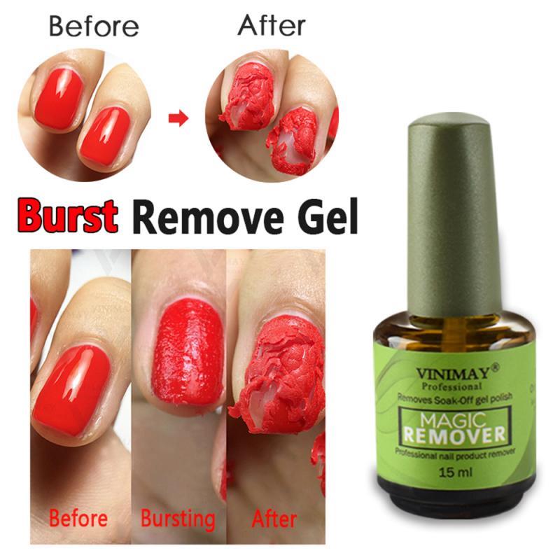 15ML Nail Gel Polish Burst Magic Remover Soak Off UV LED Nail Polish Remover Gel Fast Healthy Nail Polish Cleaner Solution TSLM1