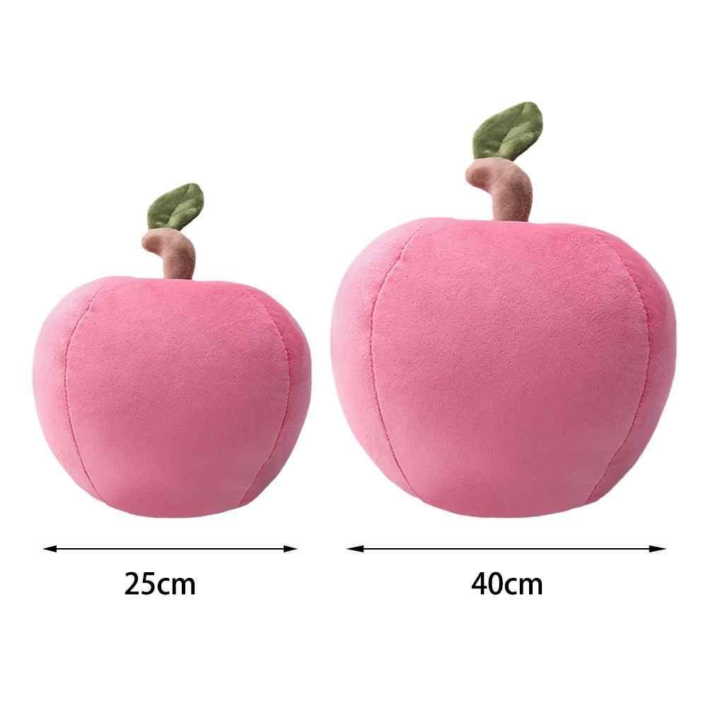 Cute Kawaii Simulasi Natal Perdamaian Buah Apple Plush Bantal Diisi Hewan Buah Bantal Bantal Hadiah Ulang Tahun Anak