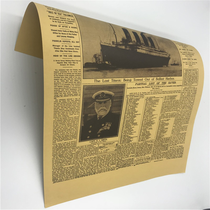 The New York Times Vintage Kraft Paper Classic Movie Poster Magazine Art Cafe Bar Decoration Retro Posters and Prints 51 35 5 in Magazines from Office School Supplies