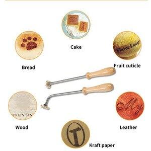 Image 2 - Sello de cuero con logotipo personalizado, molde de calefacción de molde de relieve con letras, sello de Metal, piel de hierro