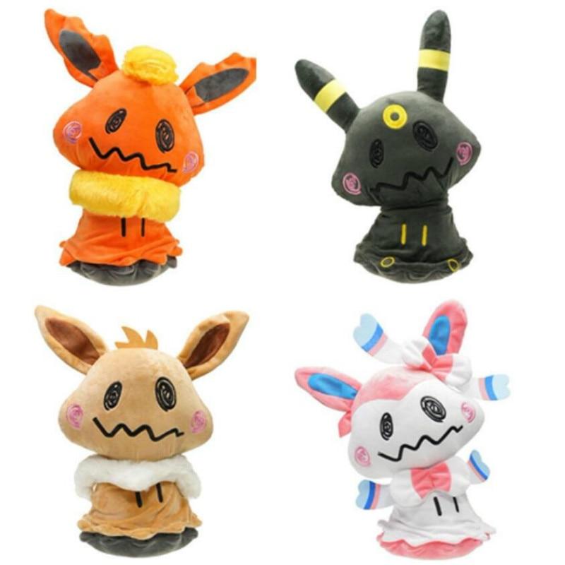 takara-tomy-font-b-pokemon-b-font-mimikyu-plush-toys-cosplay-sylveon-eevee-espeon-vaporeon-flareon-leafeon-stuffed-animal-soft-dolls