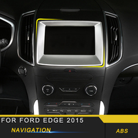 Para Ford Edge 2015 Car Styling Navegação GPS Tela Do Monitor Do Painel Guarnição da Tampa do Quadro Etiqueta Acessórios Interiores