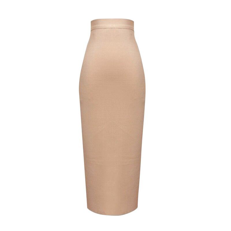 13 Colors New Fashion Women Sexy Pink Yellow Bandage Skirt Elastic Elegant Pencil Skirts 78cm
