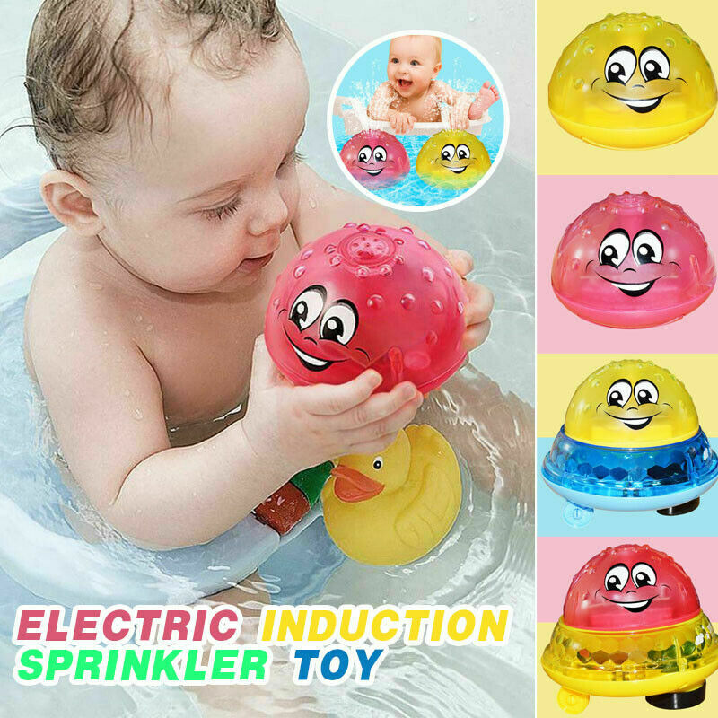Funny Infant Bathing Toy Boy Electric Induction Sprinkler Toy Light Music Baby Bathroom Play Water Multicolor Ball Toy Kids Gift