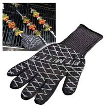 Ultimate Barbecue BBQ Pit Mitt Heat Resistant Fireplace BBQ Grill Kitchen Glove Microwave Silicone Oven Mitts manoplas