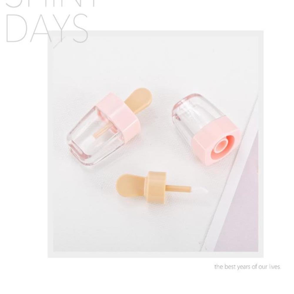 1pcs Lip Gloss Bottle Lip Glaze Tube Empty Pink Ice Cream Lipgloss Tube Packaging Material Makeup Empty Mini Sample Lip Glaze image