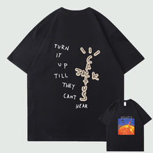 Astroworld Travis Scott Harajuku T-shirt Printed T-shirt 2021 Men's Summer Short Sleeve T-shirt Pure Cotton Loose Top