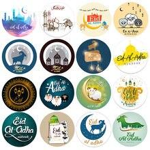 Eid al adha etiquetas etiquetas festa diy decorações eid feliz eid al-adha tratar presente embalagem auto-adesivo selo adesivos suprimentos