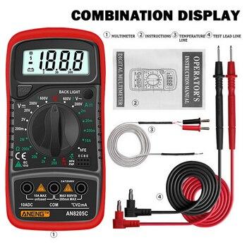 DIDIHOU-multímetro Digital AN8205C, amperímetro de CA/CC, medidor de voltios y ohmios, multímetro...