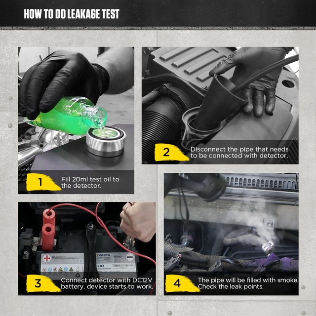 AUTOOL SDT206 Upgraded Car Smoke Leak Detector Locator 6L/Min DC12V Automotive Pipe Systems Leakage Diagnostic Smog Generator 4
