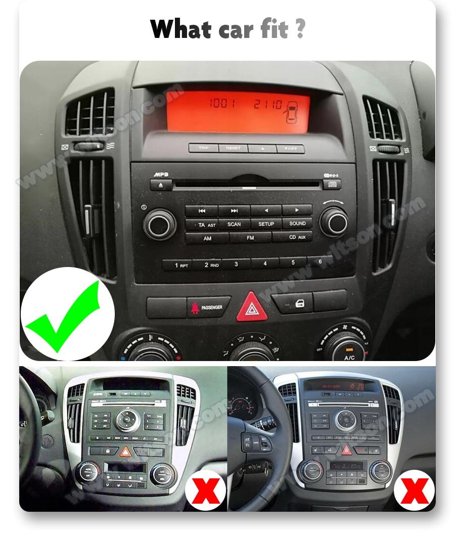 Автомобильный мультимедийный dvd-плеер WITSON, 2 ГБ 16 ГБ, 4 ядра, Android 10, 2 Din, GPS, Авторадио для Kia Ceed 2007 2008 2009, автомобильное радио, ПК, Wi-Fi