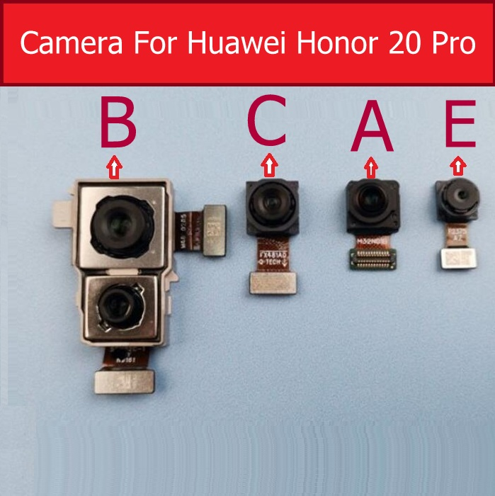 Front Small & Rear Back Camera For Huawei Honor 20 Pro YAL-L41 Main Big Camera & Wide Angle Camera With Flex Cable Tested Work