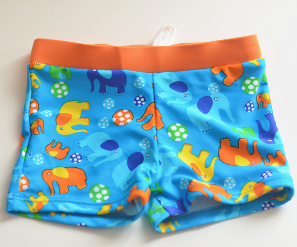 Micro 2017 New Style Children Printed Adjustable Belt Swimming Trunks Baby Cartoon Elephant