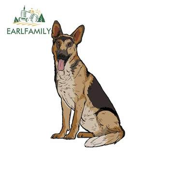 EARLFAMILY 13cm x 7.8cm for German Shepard Graphics Car Stickers and Decals Bumper Trunk Laptop Waterproof Decal Car Wrap image