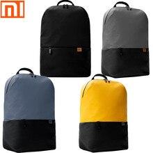 الأصلي شاومي ظهره بسيطة حقيبة ظهر غير رسمية 20L حقيبة سعة كبيرة الرجال والنساء 450g الترا ضوء مقاوم للماء على ظهره الكمبيوتر المحمول