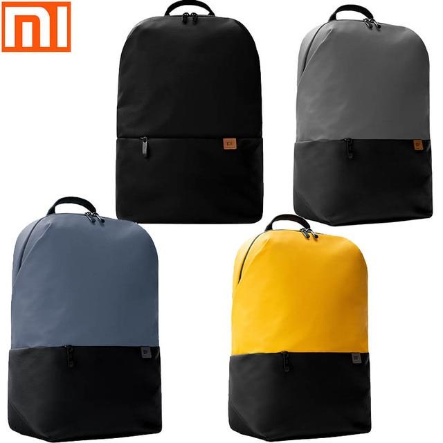 Original xiaomi backpack simple casual backpack 20L bag large capacity men and women 450g ultra light waterproof laptop backpack